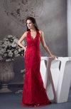 Elegant Mermaid Halter Sleeveless Satin Paillette Evening Dresses