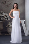 Elegant Hall Strapless Sleeveless Zipper Floor Length Flower Bridal Gowns