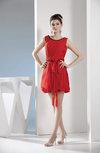 Cute A-line Chiffon Mini Pleated Graduation Dresses