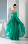 Cute A-line Sweetheart Sleeveless Zip up Chiffon Prom Dresses