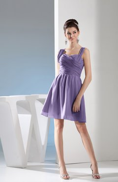 028165993bf Chalk Violet Simple Thick Straps Sleeveless Zipper Chiffon Ruching Prom  Dresses