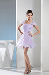 Glamorous Wide Square Short Sleeve Chiffon Ruching Party Dresses