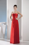 Mature Sweetheart Zip up Chiffon Floor Length Evening Dresses