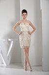 Elegant Sheath Illusion Zipper Mini Cocktail Dresses