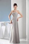 Elegant Sheath Sleeveless Zip up Ruching Prom Dresses