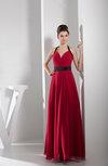 Elegant A-line Sleeveless Zip up Chiffon Floor Length Bridesmaid Dresses