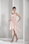 Elegant One Shoulder Sleeveless Zipper Chiffon Asymmetric Bridesmaid Dresses