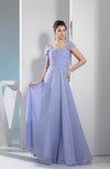 Simple A-line Square Zipper Floor Length Bridesmaid Dresses