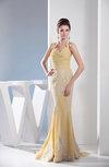 Gorgeous Mermaid Halter Sleeveless Ruching Party Dresses