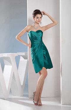 4d1e41ec4fe Emerald Green Cute A-line Sweetheart Sleeveless Taffeta Short Club Dresses