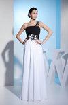 Modest Sheath Asymmetric Neckline Sleeveless Floor Length Prom Dresses