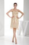 Gorgeous Sweetheart Sleeveless Zipper Satin Knee Length Club Dresses