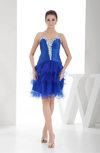 Elegant A-line Sweetheart Sleeveless Silk Like Satin Homecoming Dresses