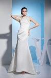 Elegant Hall Jewel Zipper Brush Train Plainness Bridal Gowns