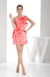 Cute Sleeveless Zipper Silk Like Satin Short Ruffles Homecoming Dresses