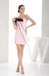 Cute Column Strapless Zip up Mini Ruching Bridesmaid Dresses