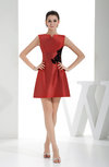 Hawaiian A-line Jewel Short Appliques Homecoming Dresses