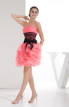 Cute Baby Doll Strapless Sleeveless Ruffles Cocktail Dresses