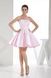 Cute A-line Sleeveless Backless Satin Bridesmaid Dresses