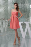 Plain A-line Sweetheart Sleeveless Backless Knee Length Bridesmaid Dresses