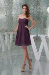 Plain A-line Sweetheart Sleeveless Backless Knee Length Bridesmaid Dresses