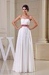 Simple A-line Zipper Chiffon Floor Length Sash Bridesmaid Dresses