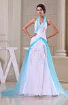 Elegant Garden A-line Sleeveless Organza Court Train Bridal Gowns