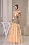Mature Fit-n-Flare Sweetheart Sleeveless Zipper Floor Length Prom Dresses