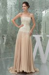 Glamorous Sleeveless Zip up Chiffon Court Train Paillette Prom Dresses