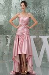 Modest Spaghetti Sleeveless Backless Silk Like Satin Ruching Bridesmaid Dresses