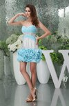 Gorgeous Sleeveless Zipper Chiffon Mini Ruffles Party Dresses