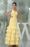 Fairytale Fit-n-Flare Sleeveless Chiffon Floor Length Flower Graduation Dresses