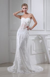Mature Hall Sleeveless Zip up Court Train Appliques Bridal Gowns