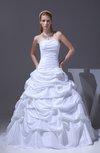 Classic Garden Strapless Sleeveless Zipper Taffeta Court Train Bridal Gowns