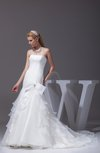 Cinderella Hall Fit-n-Flare Strapless Sleeveless Court Train Bridal Gowns