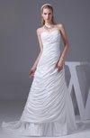 Gorgeous Garden Sweetheart Sleeveless Zipper Taffeta Ruching Bridal Gowns