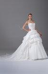 Glamorous Hall Princess Sweetheart Sleeveless Taffeta Chapel Train Bridal Gowns