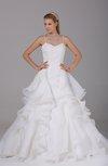Romantic Garden Sleeveless Lace up Court Train Paillette Bridal Gowns
