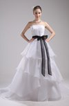 Cinderella Garden Strapless Sleeveless Backless Sash Bridal Gowns