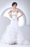 Mature Garden Fit-n-Flare Sweetheart Sleeveless Court Train Rhinestone Bridal Gowns