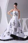 Modern Garden A-line Sleeveless Backless Chapel Train Ribbon Bridal Gowns