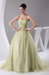 Cute Church Sweetheart Sleeveless Court Train Pleated Bridal Gowns