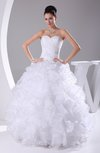 Gorgeous Destination Princess Sleeveless Organza Floor Length Bridal Gowns