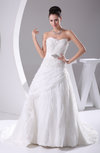 Cinderella Hall A-line Organza Court Train Paillette Bridal Gowns