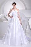 Plain Garden Sweetheart Sleeveless Zip up Court Train Bridal Gowns
