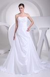 Glamorous Garden Sleeveless Zip up Taffeta Court Train Paillette Bridal Gowns