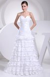Glamorous Garden Sweetheart Sleeveless Taffeta Court Train Bridal Gowns