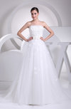 Gorgeous Church Sleeveless Chapel Train Sash Bridal Gowns