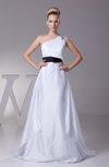 Elegant Garden Sleeveless Taffeta Court Train Rhinestone Bridal Gowns
