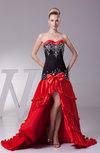 Gorgeous Sleeveless Zipper Court Train Embroidery Prom Dresses